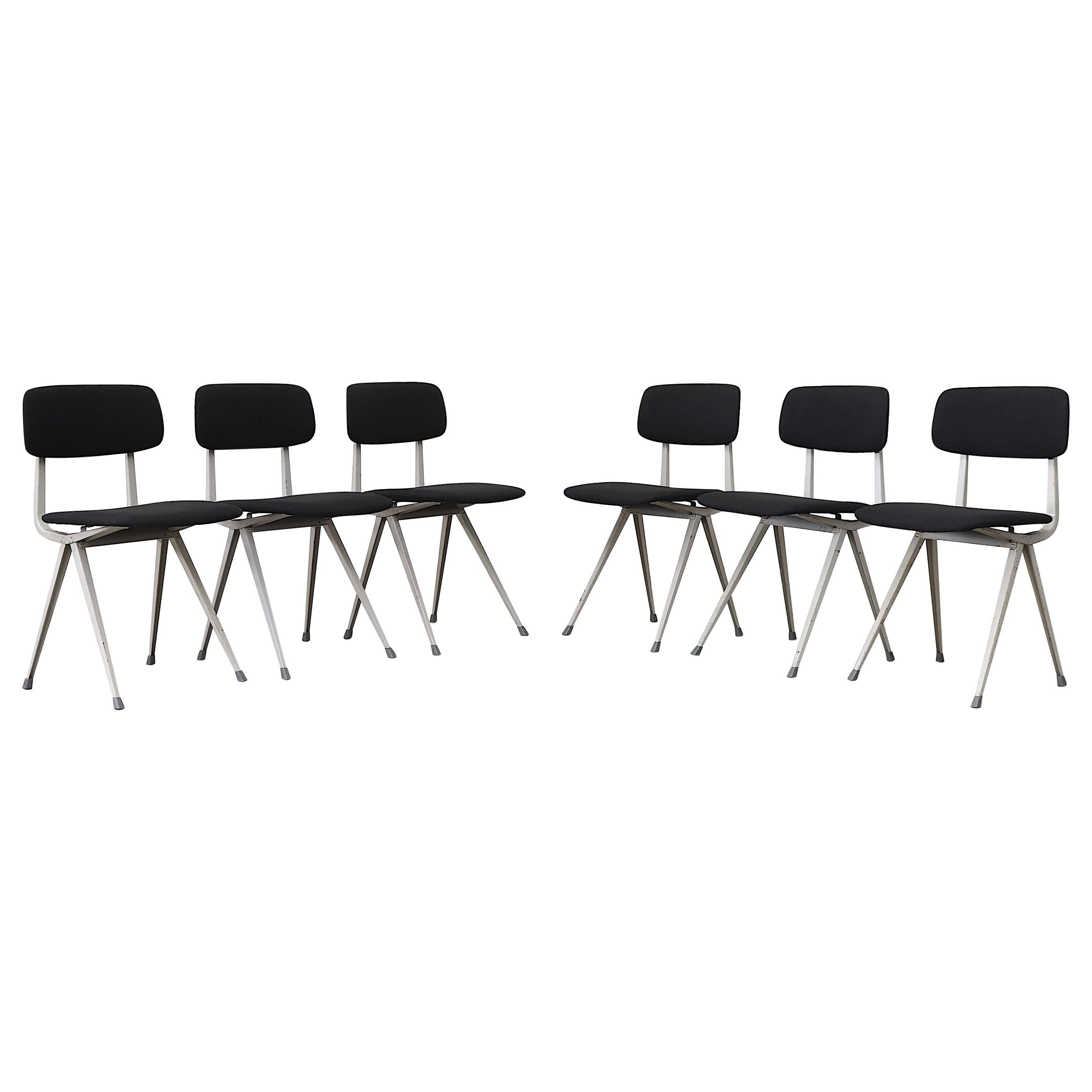 "Set of 6 Friso Kramer Upholstered ""Result"" Chairs"