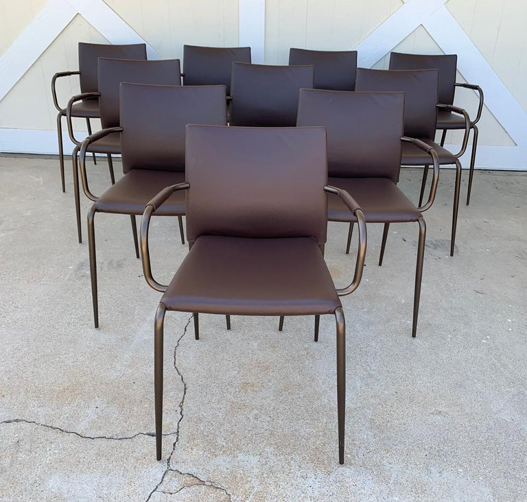 Set of 6 Gazzella Armchairs by Tom Kelley for Enrico Pellizzoni For Sale 8