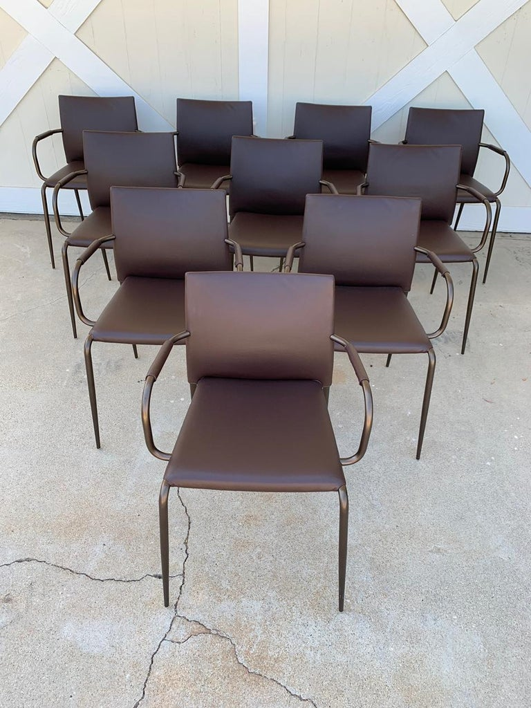 Set of 6 Gazzella Armchairs by Tom Kelley for Enrico Pellizzoni For Sale 9