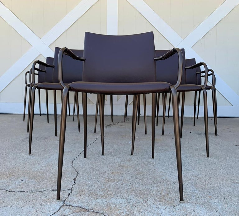 Set of 6 Gazzella Armchairs by Tom Kelley for Enrico Pellizzoni For Sale 10