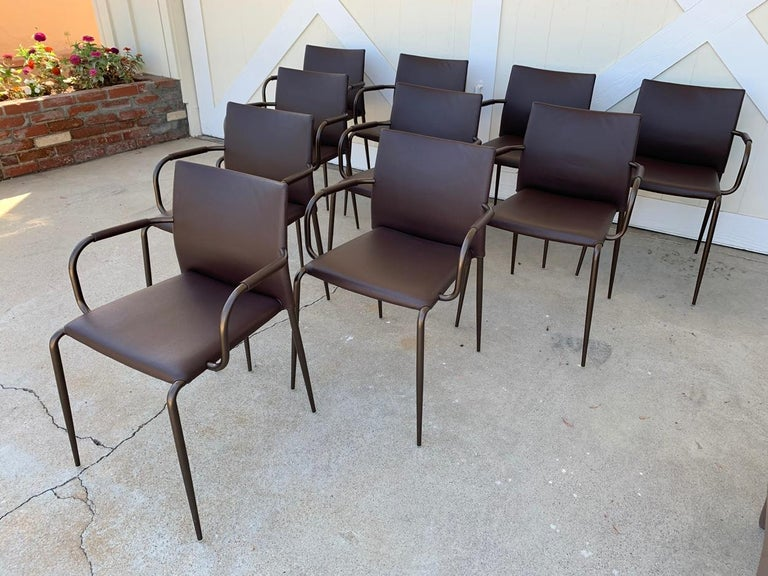 Set of 6 Gazzella Armchairs by Tom Kelley for Enrico Pellizzoni For Sale 11