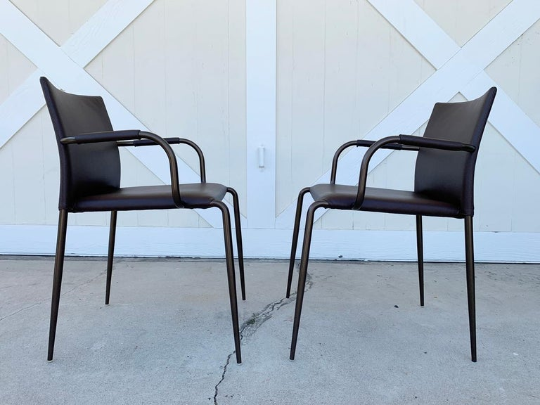 Modern Set of 6 Gazzella Armchairs by Tom Kelley for Enrico Pellizzoni For Sale