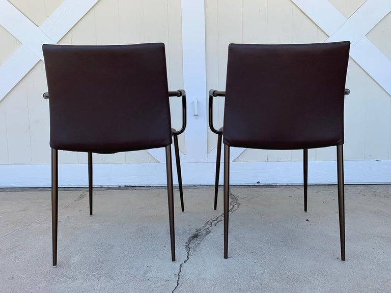 Italian Set of 6 Gazzella Armchairs by Tom Kelley for Enrico Pellizzoni For Sale