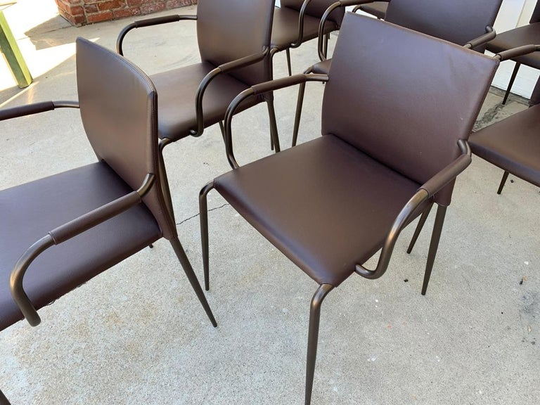 Set of 6 Gazzella Armchairs by Tom Kelley for Enrico Pellizzoni In Good Condition For Sale In Los Angeles, CA