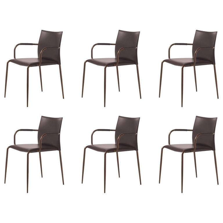 Set of 6 Gazzella Armchairs by Tom Kelley for Enrico Pellizzoni For Sale