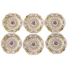 Set of 6 German Porcelain Hand Painted Plates