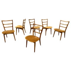 Set of 6 Gio Ponti Inspired Dining Chairs by James-Philip Co.