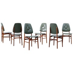 Set of 6 Gio Ponti Style Dining Chairs