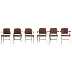 Set of 6 GoodForm Aluminum Armchairs by the General Fireproofing Co.