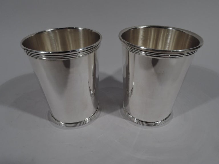 Modern Set of 6 Gorham Newport Sterling Silver Mint Julep Cups