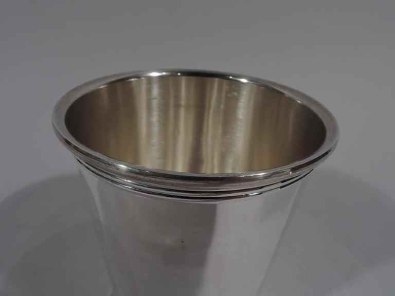 Set of 6 Gorham Newport Sterling Silver Mint Julep Cups In Excellent Condition In New York, NY