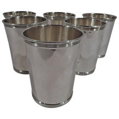 Set of 6 Gorham Newport Sterling Silver Mint Julep Cups