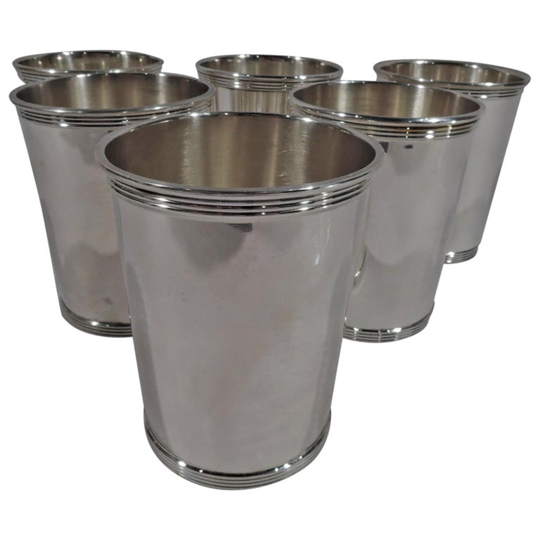 Set of 6 Gorham Newport Sterling Silver Mint Julep Cups