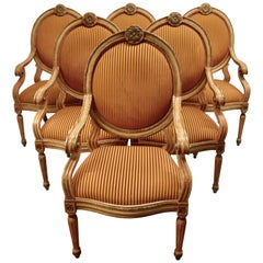 Set of 6 Grand Venetian Style Armchairs