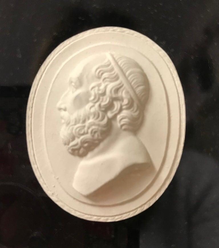 Italian Set of 6 Greco-Roman Plaster Intaglios Medallions For Sale