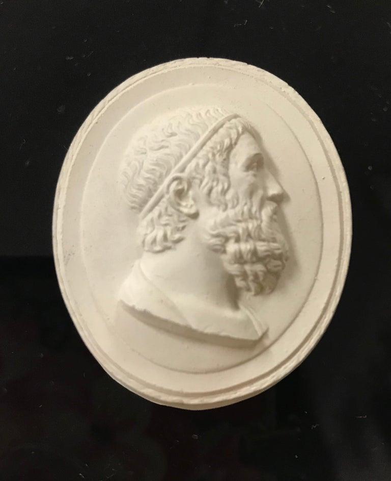 Mid-20th Century Set of 6 Greco-Roman Plaster Intaglios Medallions For Sale
