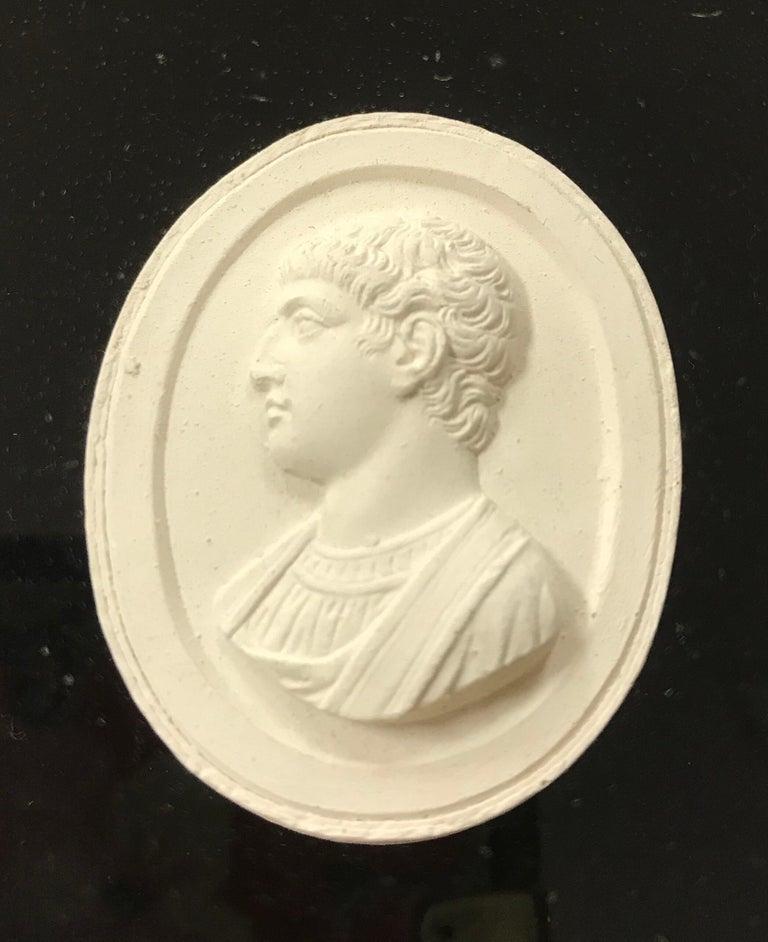 Velvet Set of 6 Greco-Roman Plaster Intaglios Medallions For Sale