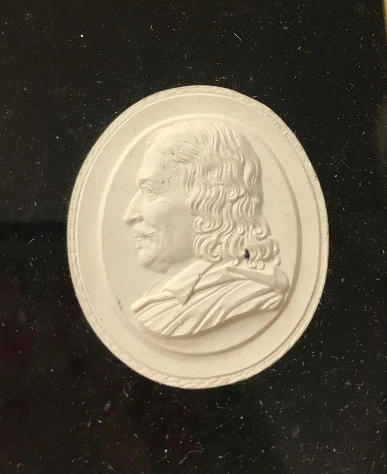 Set of 6 Greco-Roman Plaster Intaglios Medallions For Sale 1
