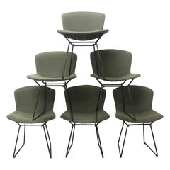 Set of 6 Harry Bertoia for Knoll Wire Chairs, 1960s-1970s, USA