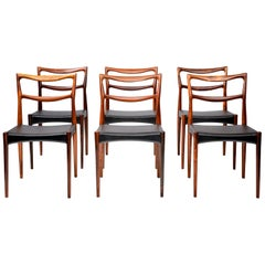 Set of 6 Henry W. Klein Rosewood Dining Chairs, circa 1960