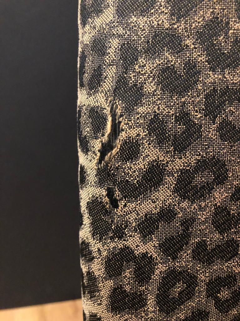 Upholstery Set of 6 Leopard Print High back Dining Chairs For Sale