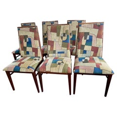 Set of 6 High Back Modern Dining Side Chairs