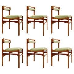 Set of 6 Italian Chairs, Mid-Century Modern