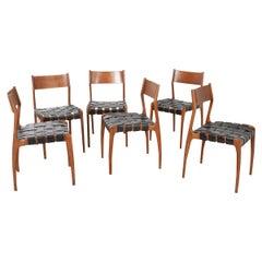 Set of 6 Italian Mid-Century Dining Chairs