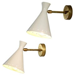 "Set of 6 Italian Modern ""Cocotte"" Sconces Beige, Wall Lights"