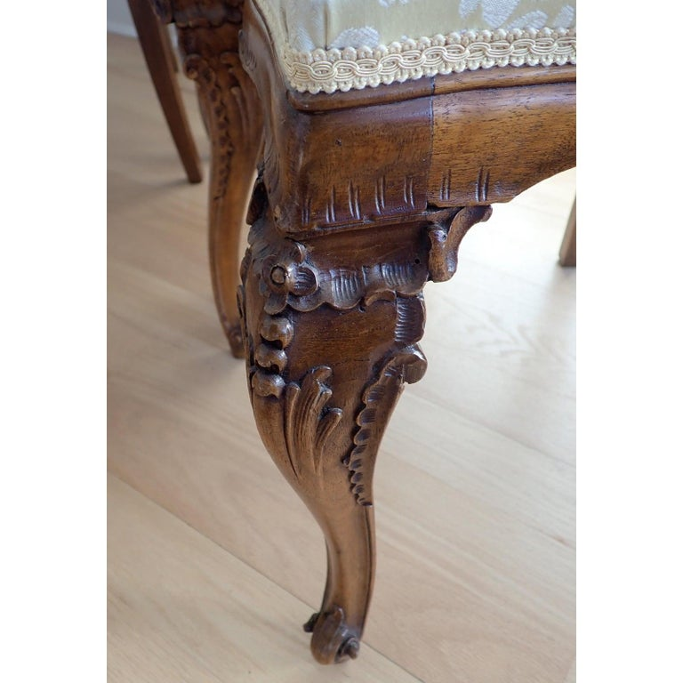 Set of 6 Italian Rococo Dining Room Chairs For Sale 1