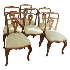 Set of 6 Italian Rococo Dining Room Chairs