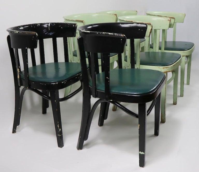 Set of 6 J J Kohn Mundus Cafe Dining Chairs For Sale 9