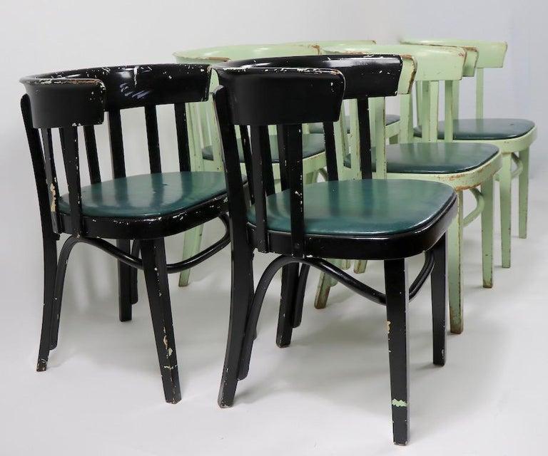 Set of 6 J J Kohn Mundus Cafe Dining Chairs For Sale 10