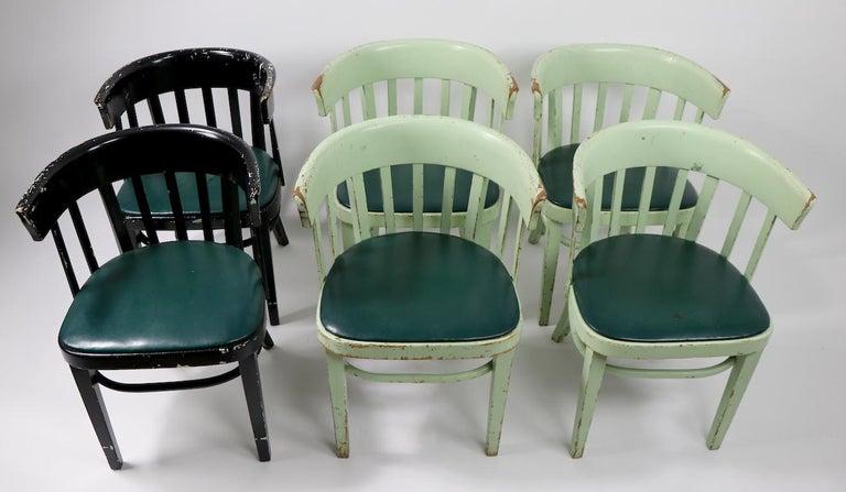 Set of 6 J J Kohn Mundus Cafe Dining Chairs For Sale 11