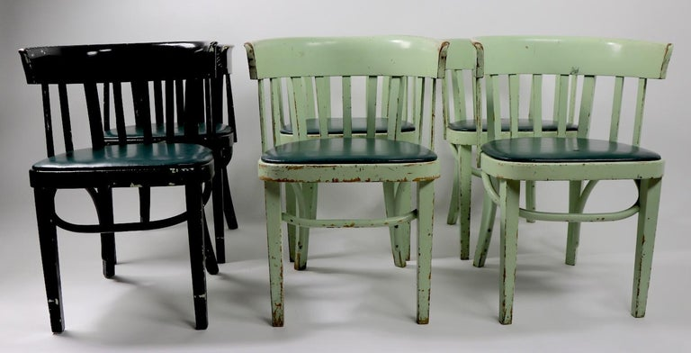 Vienna Secession Set of 6 J J Kohn Mundus Cafe Dining Chairs For Sale