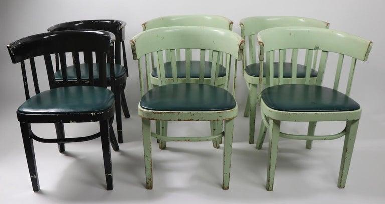 Austrian Set of 6 J J Kohn Mundus Cafe Dining Chairs For Sale