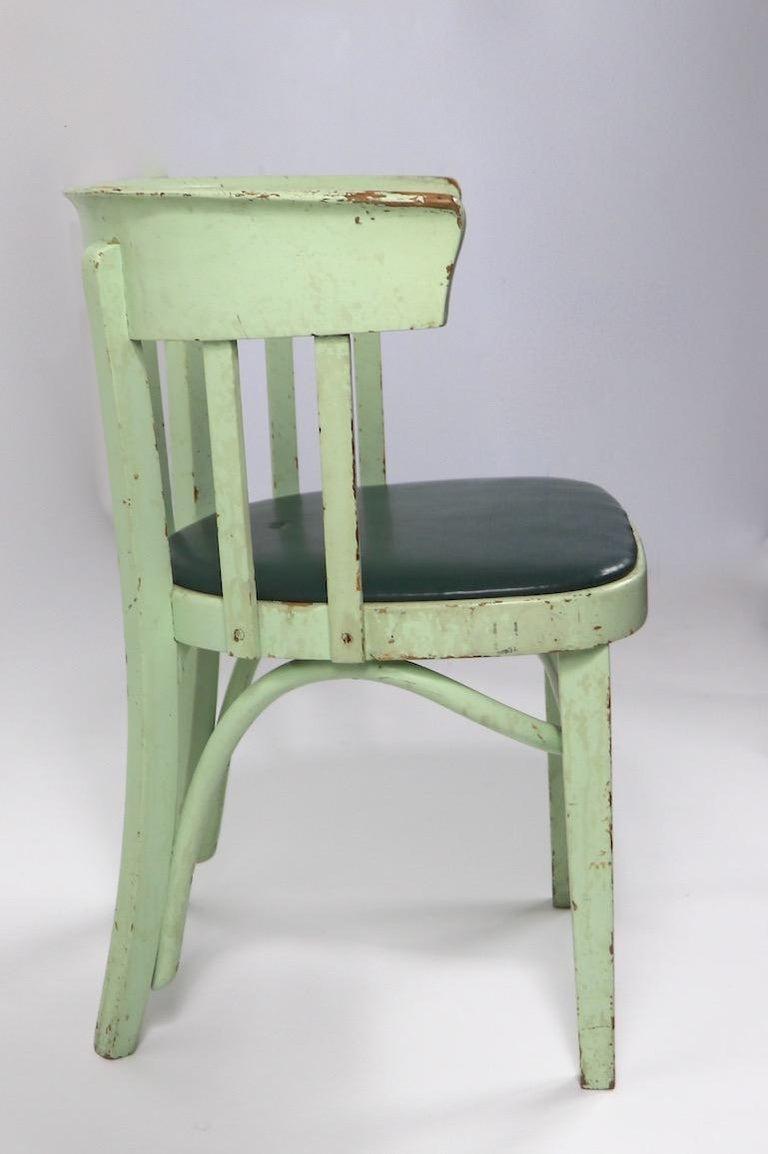 Wood Set of 6 J J Kohn Mundus Cafe Dining Chairs For Sale