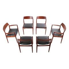 Set of 6 JL Moller Danish Modern Dining Chairs