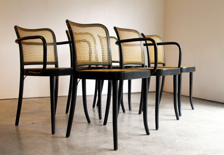 Designer: Josef Hoffman Manufacture: Stendig Period/style: Mid-Century Modern Country: Chech Republic Date: 1950s  2 armchairs and 4 side chairs.