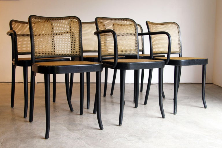 Mid-Century Modern Set of 6 Josef Hoffman for Stendig Dining Chairs