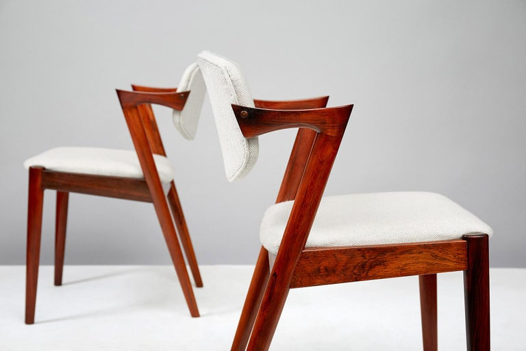 Set of 6 Kai Kristiansen Model 42 Dining Chairs, Rosewood For Sale 2