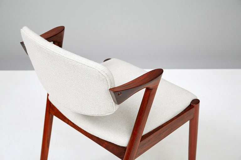 Set of 6 Kai Kristiansen Model 42 Dining Chairs, Rosewood For Sale 3