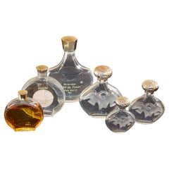 Set of 6 Lalique Creation Collectible Nina Ricci Perfume Bottles