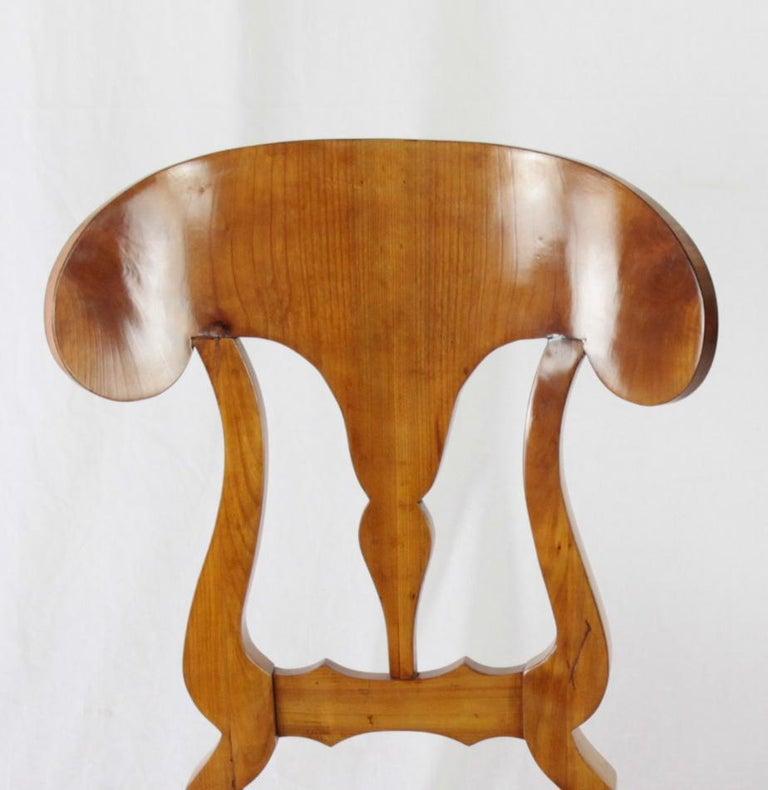 Set of 6 Late Biedermeier Period Chairs, Germany Cherrywood Veneer For Sale 2