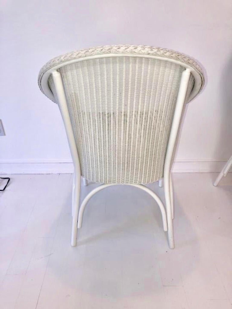 European Set of 6 Lloyd Loom Dining Chairs For Sale