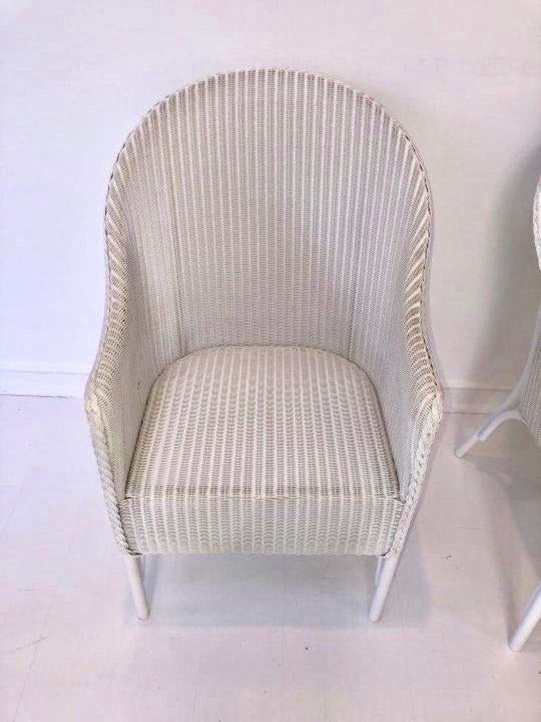 Contemporary Set of 6 Lloyd Loom Dining Chairs For Sale