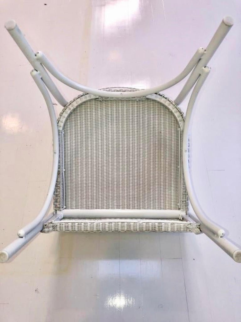 Wicker Set of 6 Lloyd Loom Dining Chairs For Sale