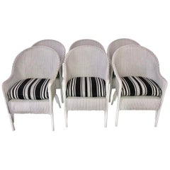 Set of 6 Lloyd Loom Dining Chairs