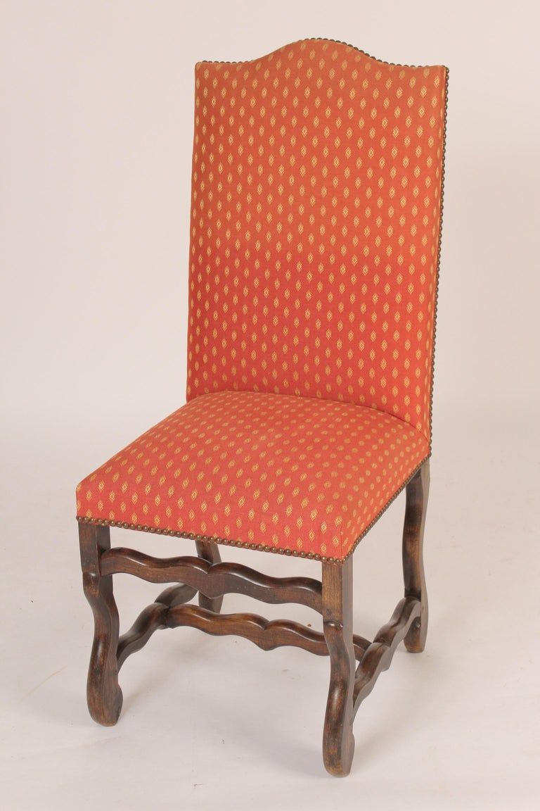 Set of 6 Louis XIV Style Dining Room Chairs In Good Condition For Sale In Laguna Beach, CA