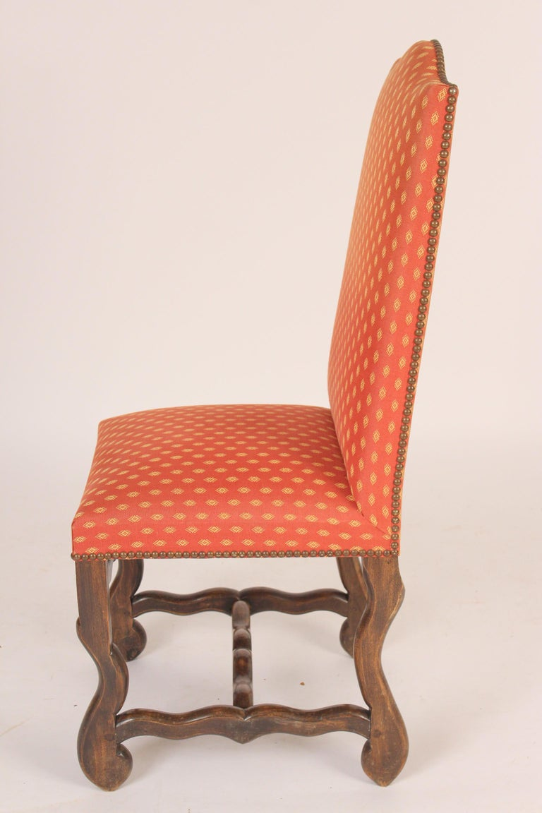 Mid-20th Century Set of 6 Louis XIV Style Dining Room Chairs For Sale